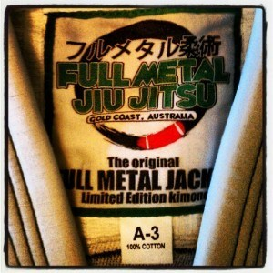 Full Metal Jiu Jitsu BJJ Gi embroidery detail