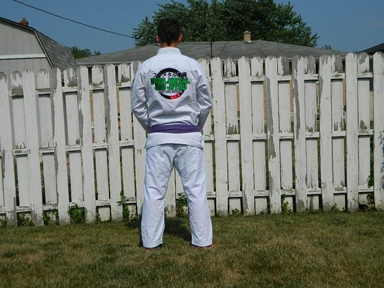 Full Metal Jiu Jitsu BJJ Gi back view