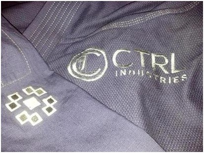 ctrl industries the knight bjj gi chest embroidery