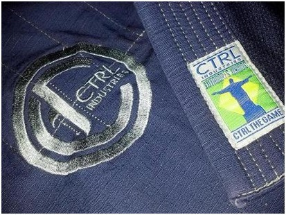 ctrl industries the knight bjj gi lapel pant embroidery