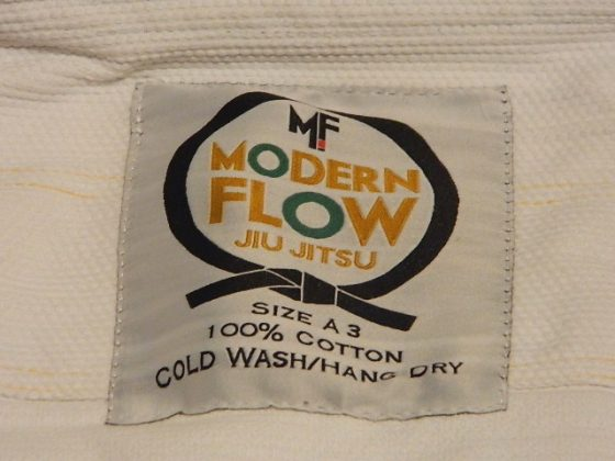 modern flow ranger bjj gi jacket label