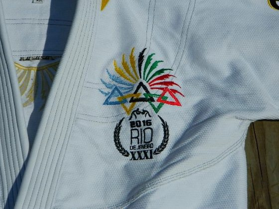 ronin brand rio games bjj gi chest embroidery