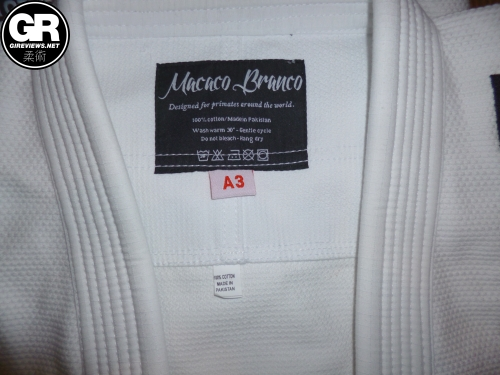 macaco branco gi review inside jacket label