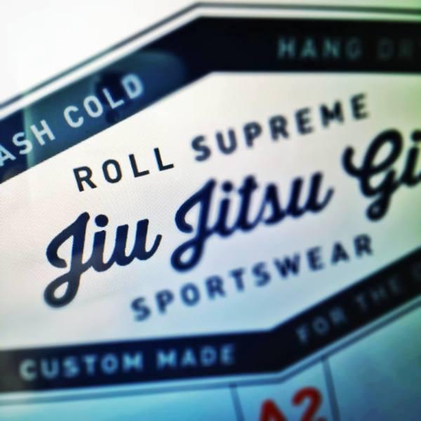 Roll Supreme BJJ gi label