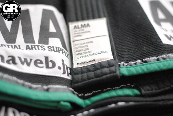 alma jiu jitsu kimonos gi review lapel label