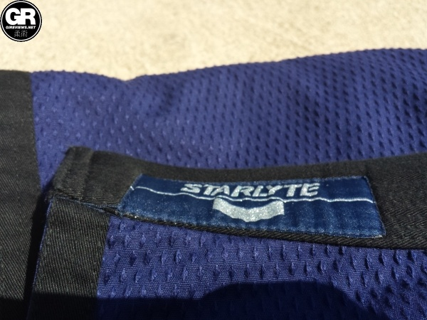 hyperfly starlyte jacket tag and weave detail view