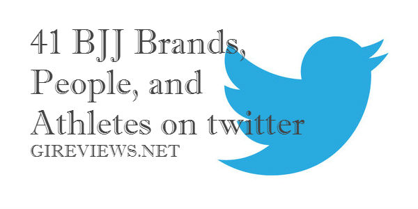 41 BJJ Brands, People, and Athletes on twitter