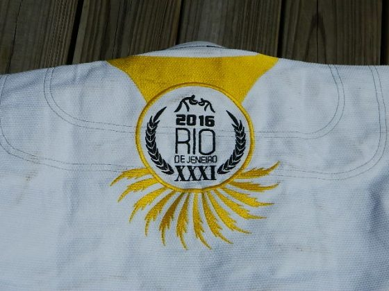 ronin brand rio games bjj gi rear jacket embroidery