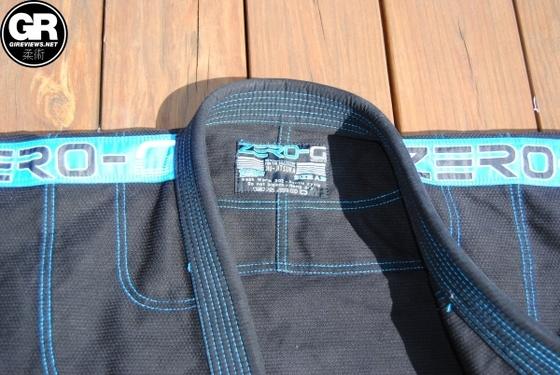 Tatami Fightwear Zero G V3 Jiu Jitsu Gi collar detail
