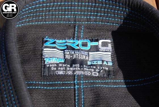 Tatami Fightwear Zero G V3 Jiu Jitsu Gi trouser label