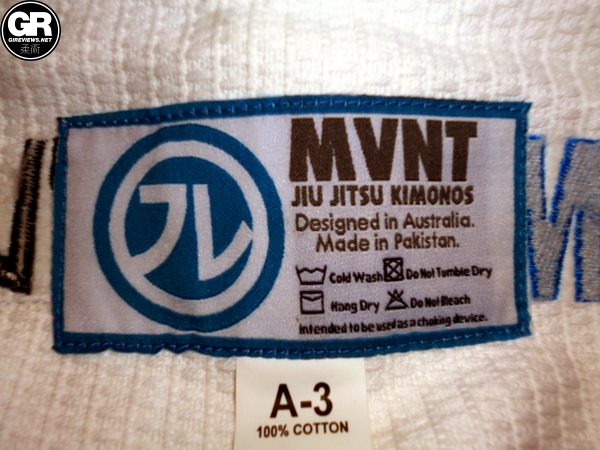 mvnt bjj gi review jacket label