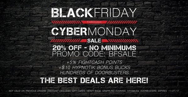 2017 Black Friday BJJ Deals, Coupons and Promos