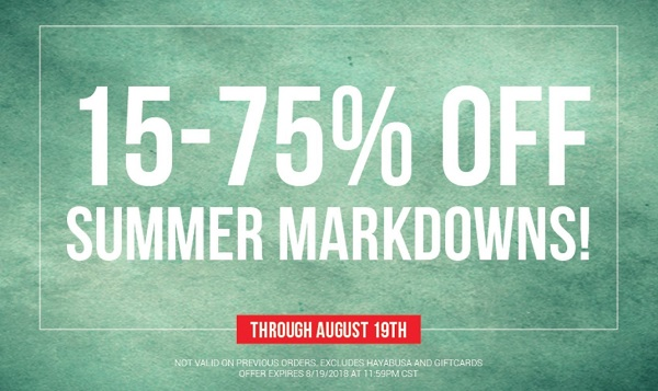 MMA Warehouse - Summer Markdown